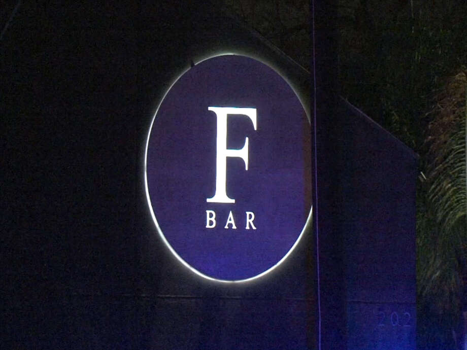 A screenshot of video footage shows F Bar along Tuam Street in Houston, Texas on Feb. 24, 2017. (Metro Video Services, LLC/For the Houston Chronicle)