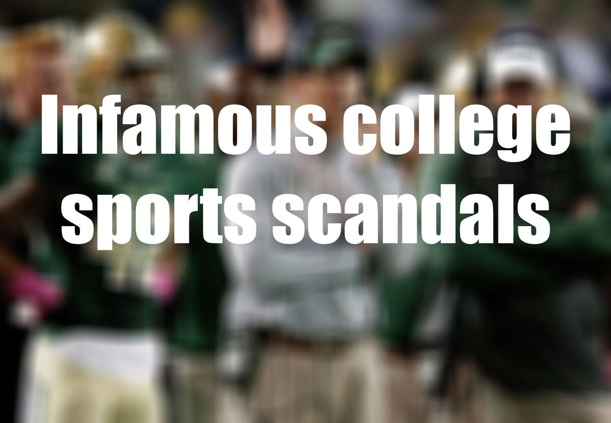 See some of the biggest sports scandals to hit NCAA campuses in recent years.