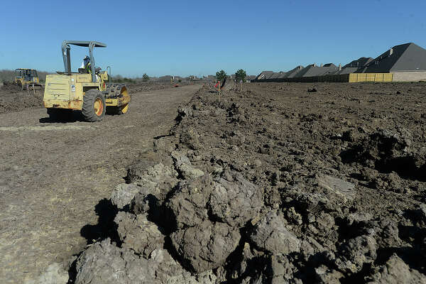 A new road is underway, which will lead to the 30-some new homes Guesman Enterprises, Inc., is building in the expanding Barrington Heights subdivision in Beaumont's West end Thursday. Photo taken Thursday, February 23, 2017 Kim Brent/The Enterprise