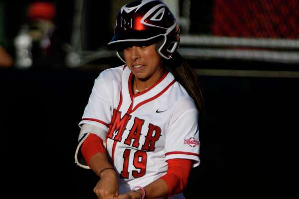 Lamar's Brittany Rodriguez bats in the softball team's home opener against Alabama A&M on Thursday afternoon. The Cardinals won 6-3.  Photo taken Thursday 2/23/17 Ryan Pelham/The Enterprise