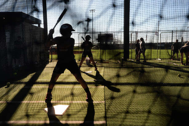 Cardinal softball players during Wednesday's practice. Lamar will play Alabama A&M on Thursday. Photo taken Wednesday, February 22, 2017 Guiseppe Barranco/The Enterprise