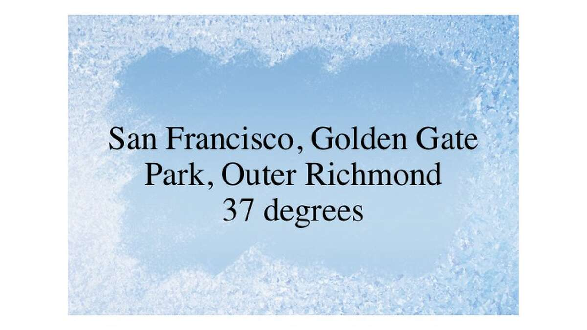 Temperatures around the Bay Area dropped on the night of Thursday, Feb., 23, 2017.
