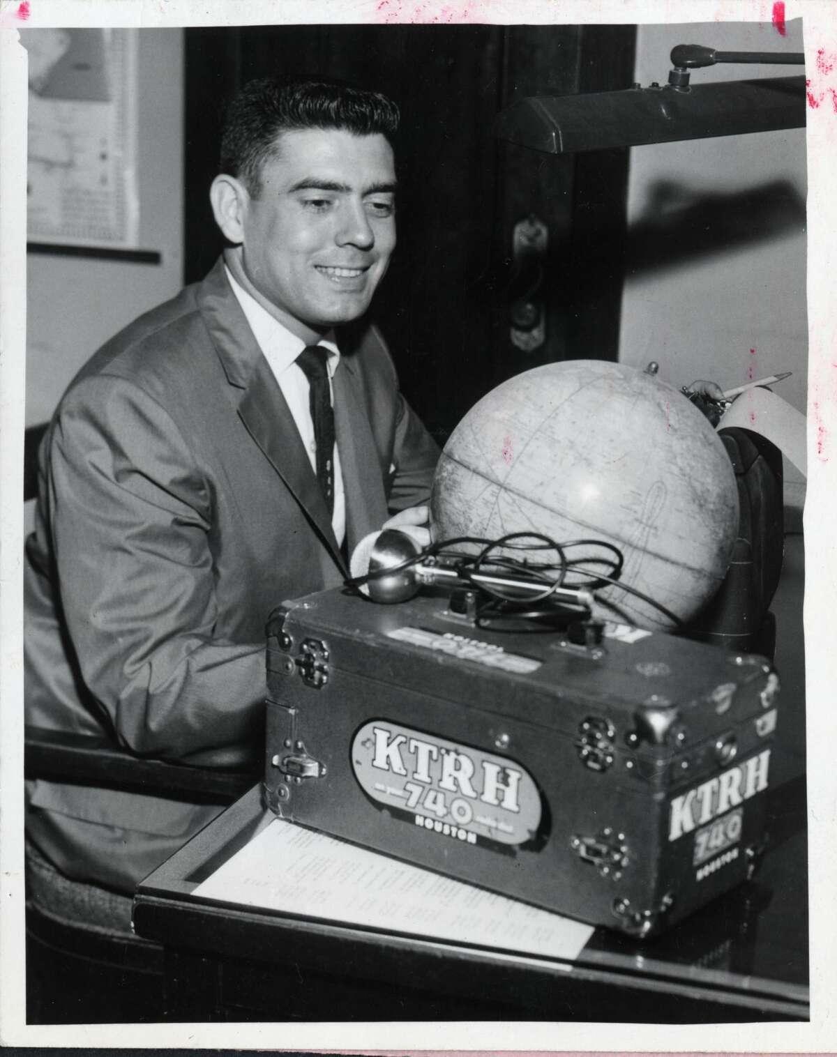 Dan Rather at KTRH in Houston, TX, Oct 13, 1957.