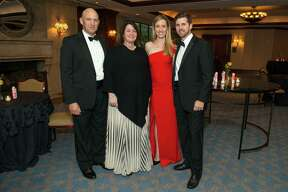 Inprint ball chairs Michael and Kelly Sklar, left, and Claire and Robert Campbell