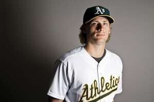 This is a 2017 photo of relief pitcher Ross Detwiler of the Oakland Athletics baseball team poses for a portrait. This image reflects the Athletics active roster as of Wednesday, Feb. 22, 2017, when this image was taken. (AP Photo/Chris Carlson)