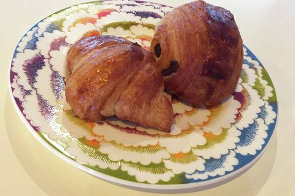 Croissant and pain au chocolat from La Boulangerie.