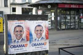 PARIS, FRANCE - FEBRUARY 23: Obama 17 posters are seen displayed accross Paris on February 23, 2017 in Paris, France. Obama17 was created by a group who want to reach over 1 million signatures by March 15, 2017 in order to propose Barack Obama to present his candidacy to become France's 25th President and prove that Democracy still is possible by electing a foreign French President. (Photo by Aurelien Meunier/Getty Images)