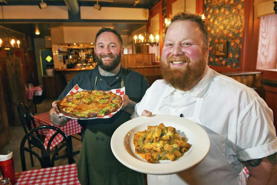 Donna's Italian Restaurant (former Minissale's) chefs Nick Ruscitto, left, and Ian Brower Wednesday Feb. 15, 2017 in Troy, NY.   (John Carl D'Annibale / Times Union) Photo: John Carl D'Annibale / 20039700A