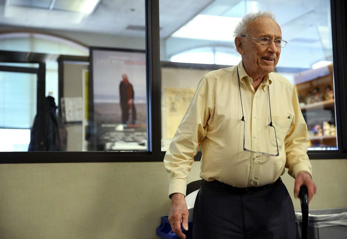 David Perlman during his 98th birthday party at the San Francisco Chronicle on Tuesday, Dec. 20, 2016 in San Francisco, Calif. Perlman is S.F. Chronicle's veteran science editor and reports on research and scientific advances at California universities and research centers. He has also reported from many places around America from Cape Canaveral to Alaska, and around the world from Antarctica to the Galapagos Islands and from China to Ethiopia. He is a past president of the National Association of Science Writers and the Council for the Advancement of Science Writing and is a Fellow of the California Academy of Sciences. Perlman has won journalism awards from the American Association for the Advancement of Science, the Society of Professional Journalists, the American Chemical Society, the American Geophysical Union, the United States Geological Survey and many other organizations.