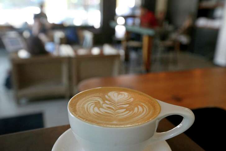 A latte at Local Coffee at The Pearl.
