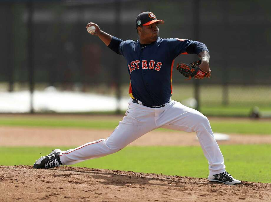 Francis Martes, RHP21 years oldAcquired from the Marlins in the Jarred Cosart trade - which also netted the Astros Jake Marisnick and Colin Moran - Martes has the tools to be a top-of-the-rotation starter. He'll begin this season at Class AAA Fresno, and he's likely to make his big league debut at some point this season. Photo: Karen Warren, Houston Chronicle / 2017 Houston Chronicle
