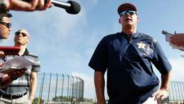 Houston Astros manager A.J. Hinch speaks to the media during spring training at The Ballpark of the Palm Beaches, in West Palm Beach, Florida, Friday, February 24, 2017. ( Karen Warren / Houston Chronicle )