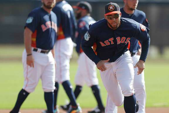 Houston Astros right fielder George Springer (4) runs the bases during spring training at The Ballpark of the Palm Beaches, in West Palm Beach, Florida, Friday, February 24, 2017.