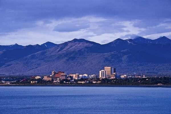 ANCHORAGE, ALASKA, UNITED STATES - 2009/06/18: Skyline of Anchorage. (Photo by John Greim/LightRocket via Getty Images)