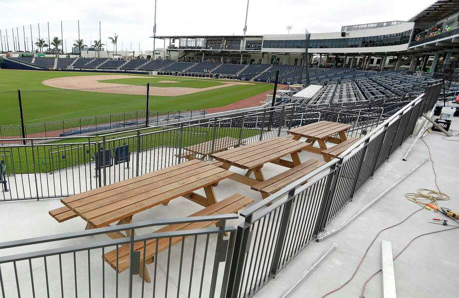 Picnic area on the third base side of the stadium at The Ballpark of the Palm Beaches, in West Palm Beach, Florida, Friday, February 24, 2017. Joint spring training home of the Houston Astros and the Washington Nationals. Photo: Karen Warren, Houston Chronicle / 2017 Houston Chronicle