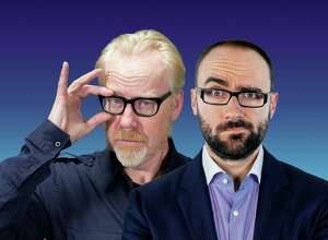 "Adam Savage, left, and Michael Stevens bring ""Brain Candy Live!"" to The Bushnell in Hartford on Wednesday, March 8."