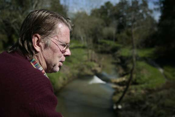 Cotati/Rohnert Park School Board member Tim Nonn spends time on a bridge over a creek by his home in Rohnert Park, California, Friday, February 24, 2017. Mr. Nonn is suing the school board and superintendent alleging they are not making accommodations to deal with Mr. Nonn's blindness. Ramin Rahimian/Special to The Chronicle