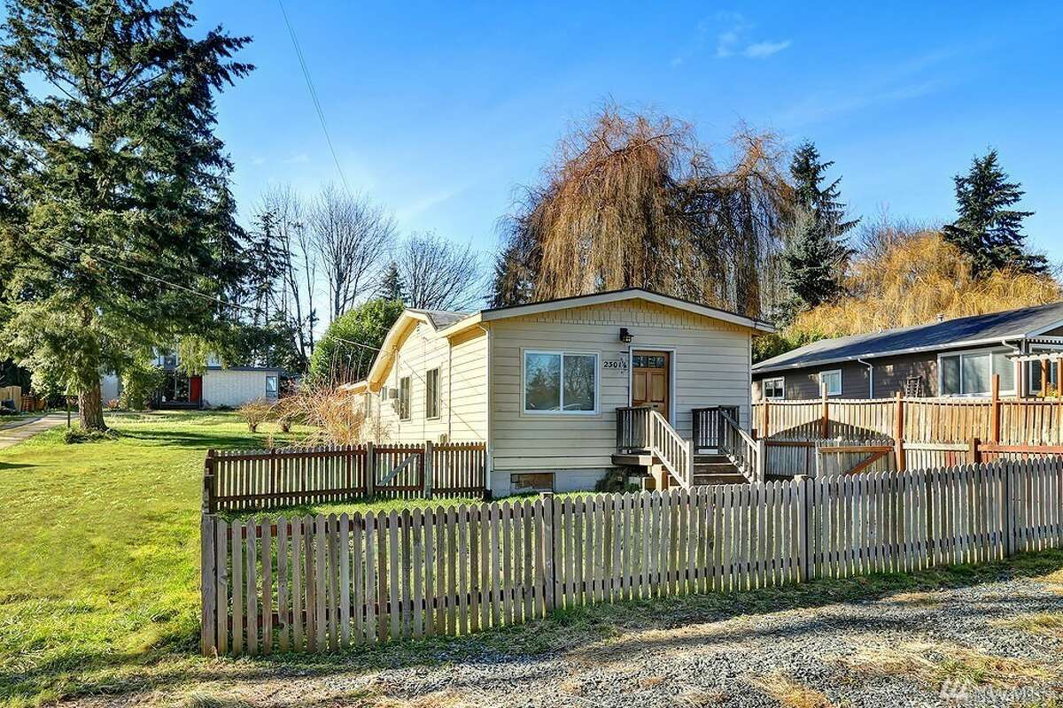 The first home, at 23014 29th Ave. W., is listed for $350,000. The home is in Brier. The two-bedroom, one-bathroom home is 988 square feet and sits on a large, 15,000-square-foot lot. There will be a showing for this home on Saturday, Feb. 25 and Sunday, Feb. 26 from 1 p.m. to 4 p.m. You can see the full listing here.