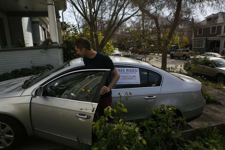 Michael Morgenstern decided to offer people free rides if they deleted their Uber account after he read a blog about bias against women at the company. Photo: Natasha Dangond, The Chronicle