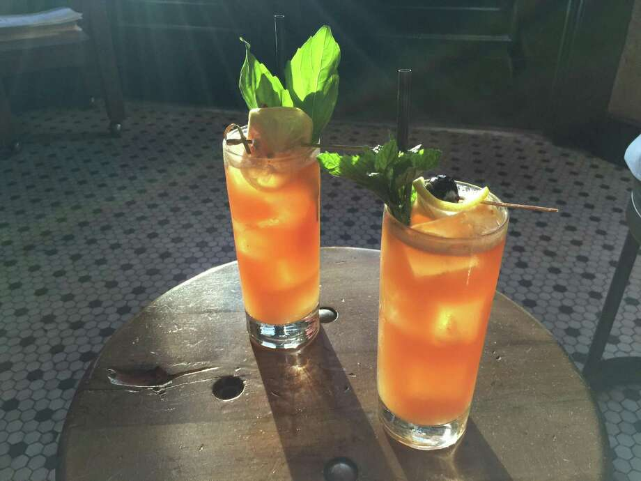 Barbaro makes excellent Pimm's cups, which are perfect for day drinking on a warm day. Photo: Emily Spicer /San Antonio Express-News