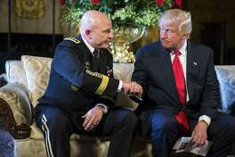 President Donald Trump announces Lt. Gen. H.R. McMaster, left, as his next National Security Adviser, but a reader says troubling questions remain concerning his predecessor, Michael Flynn, who was forced to resign after denying he had discussed sanctions with Russian officials.
