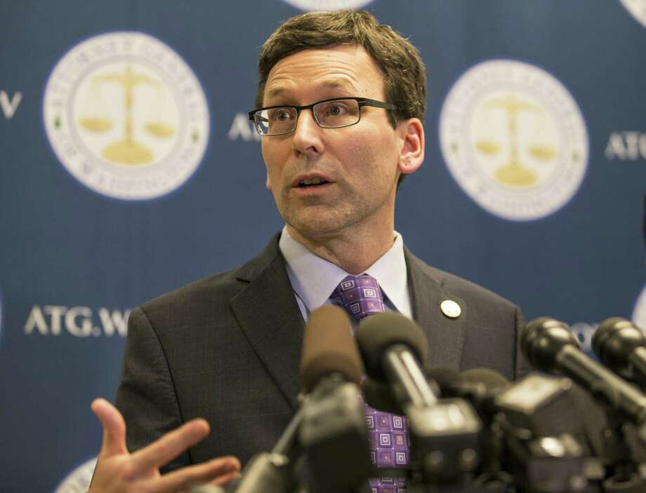 Washington state Attorney General Bob Ferguson speaks after an appeals court refused to reinstate a ban on travelers from seven nations. A reader elaborates on the role of the judiciary. Photo: Stephen Brashear /Getty Images / 2017 Getty Images