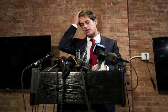 Milo Yiannopoulos announces his resignation from Brietbart News during a press conference on Feb. 21 in New York City. After comments he made regarding pedophilia surfaced in an online video, Yiannopoulos was uninvited to speak at the Conservative Political Action Conference (CPAC) and lost a major book deal with Simon & Schuster.