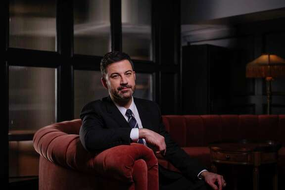 "Jimmy Kimmel, the late-night host, in his show's green room in Los Angeles, Feb. 16, 2017. Kimmel is preparing to host the Academy Awards for the first time, and said he's not looking at it as a full-time gig. ""You never know how these things have gone until you step offstage and read what a bunch of strangers thought,"" he said. (Brinson&Banks/The New York Times)"