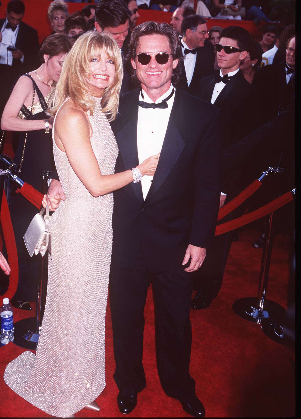 Goldie Hawn and Kurt Russell during The 69th Annual Academy Awards - Arrivals at Shrine Auditorium in Los Angeles, California, United States. (Photo by Jeffrey Mayer/WireImage)