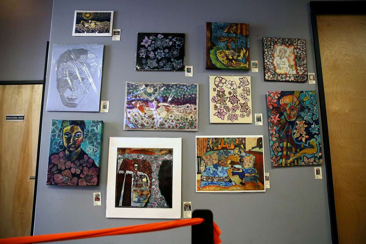 Art for sale at the Bloom Room Cannabis Collective on Wednesday, Feb. 22, 2017, in San Francisco, Calif.