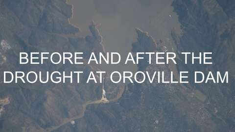 See how empty Lake Oroville was during the drought compared to its