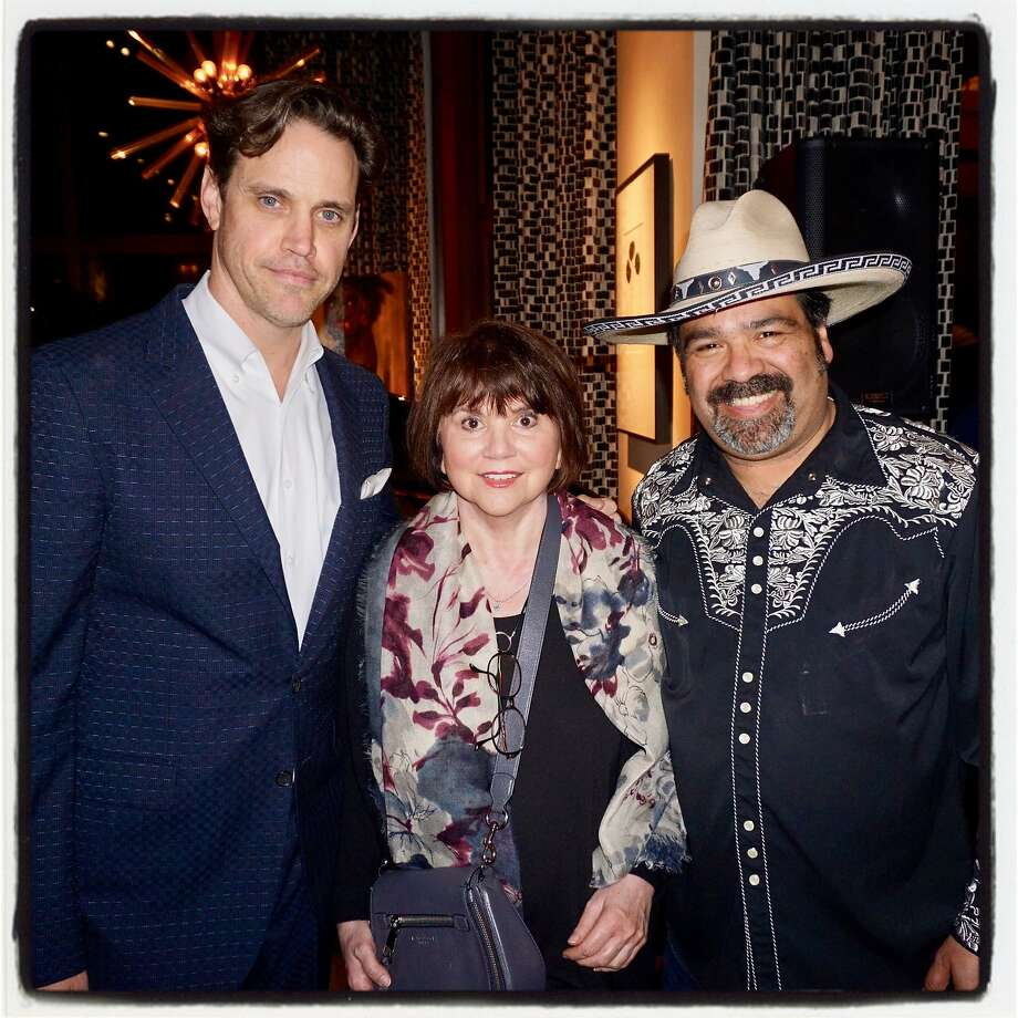 Robert Mailer Anderson (left), Linda Ronstadt and Los Cenzontles founder Eugene Rodriguez at the Pachanga Jam. Photo: Catherine Bigelow, Special To The Chronicle