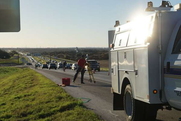 A rollover requiring a medical helicopter response shut down eastbound traffic on Loop 1604 before Judson Road for some time Friday Feb. 24, 2017.