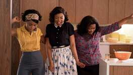 """Hidden Figures"" follows three black mathematicians hired by the predecessor to NASA in the 1950s: Mary Jackson, played by Janelle Monae (from left); Katherine Johnson, played by Taraji P. Henson; and Dorothy Vaughan, portrayed by Octavia Spencer."