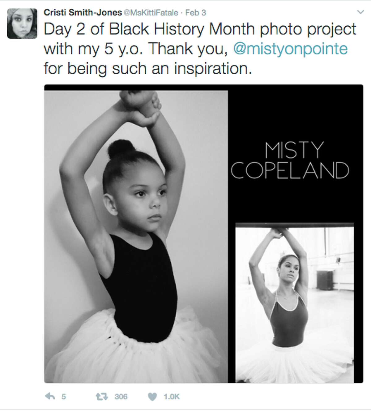Seattle native Cristi Smith-Jones is dressing up her five-year-old daughter, Lola, as iconic black women in celebration of Black History Month.