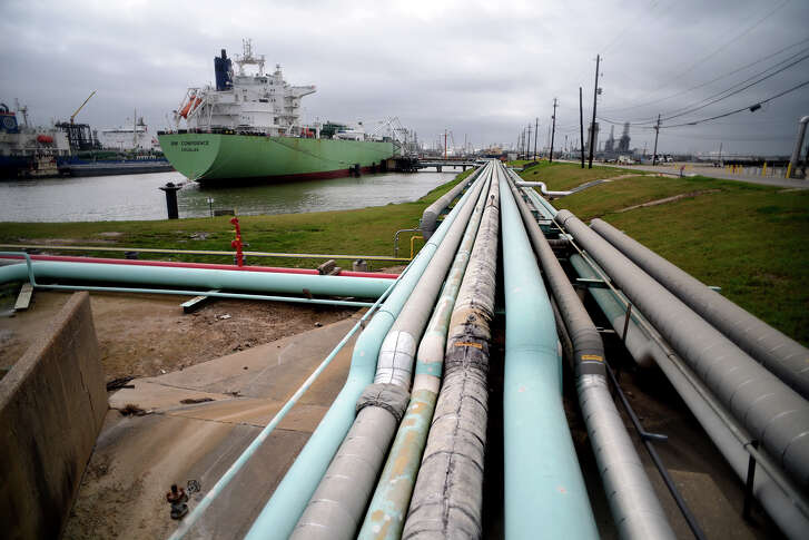 A vessel is loaded with 500,000 barrels (22 million gallons) of propane at an Enterprise Products dock on the Houston Ship Channel on Feb. 10, 2017. (Photo by Jerry Baker/Freelance)
