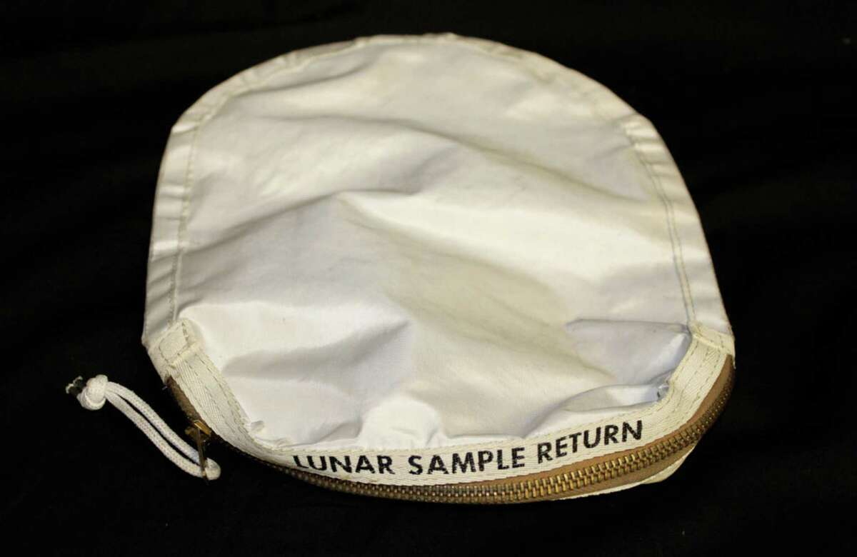This sample bag of lunar dust from the 1969 moon landing by the Apollo 11 crew was put up for auction in 2015 and bought by a collector in Inverness, Illinois. She sent it to NASA for testing. When NASA did not return it, she sought possession of it through the federal judiciary. On Friday, a district judge in Houston ruled that the bag is hers. Photo courtesy of Christopher McHugh, attorney for Nancy Carlson.