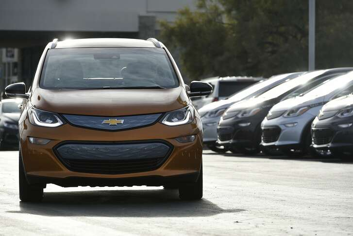 Bobby Edmonds, of Castro Valley drives his new Chevy Bolt EV around the lot during a release event for the new vehicles at Fremont Chevrolet in Fremont, CA, on Tuesday, December 13, 2016.