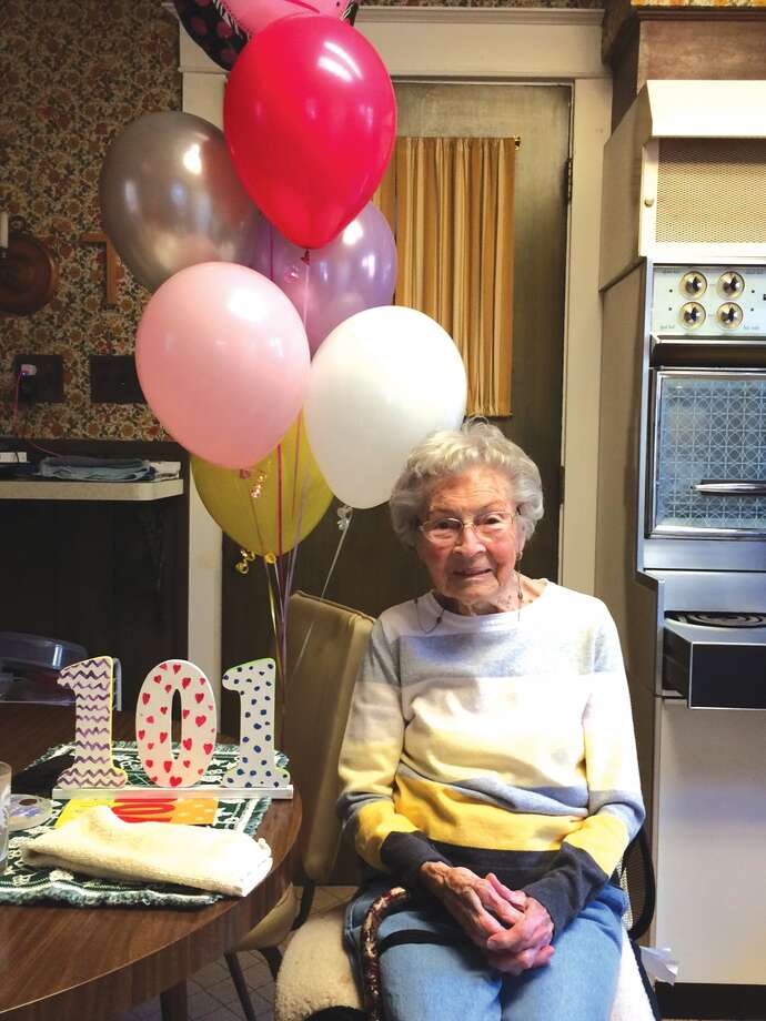 Ruth Collins celebrated her 101st birthday Thursday. Photo: John Sommerhof • Intelligencer