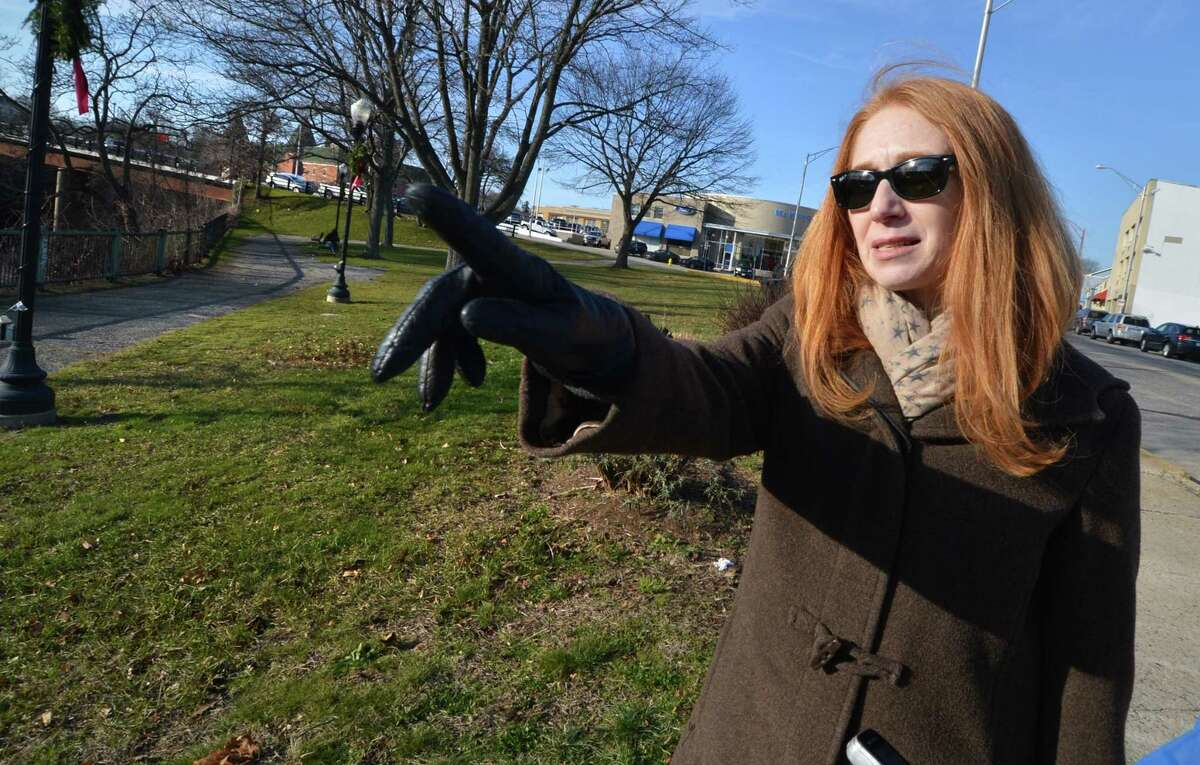 Tami Strauss, director of Community Development Planning at the Norwalk Redevelopment Agency, points out potential areas of improvements to Freese Park in this file photo from December 2016. Freese Park is set to undergo some cosmetic changes in the near future, but before ground is broken, developers would like to hear what residents would like to see should added.
