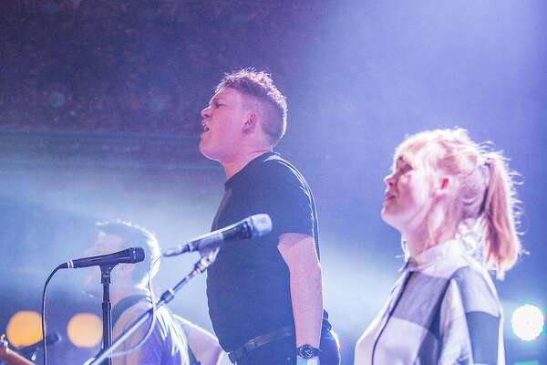 Noise Pop fest performance of the band Los Campesinos,  Friday, Feb. 24, 2017 in San Francisco, CA.