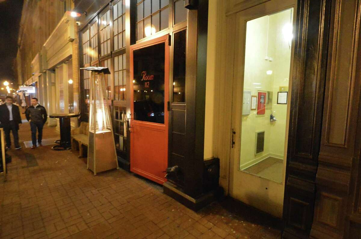 Doorway to the upper floors of the building at Room 112 on Washington Street on Thursday, Feb. 23. In response to resident's complaints, city lawmakers are exploring possible changes to the city's noise ordinance.