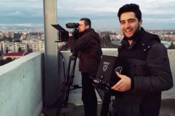 "21-year-old cinematographer Khaled Khatib was banned from traveling to Los Angeles for the Oscars. His film, ""The White Helmets,"" is nominated for Best Documentary."