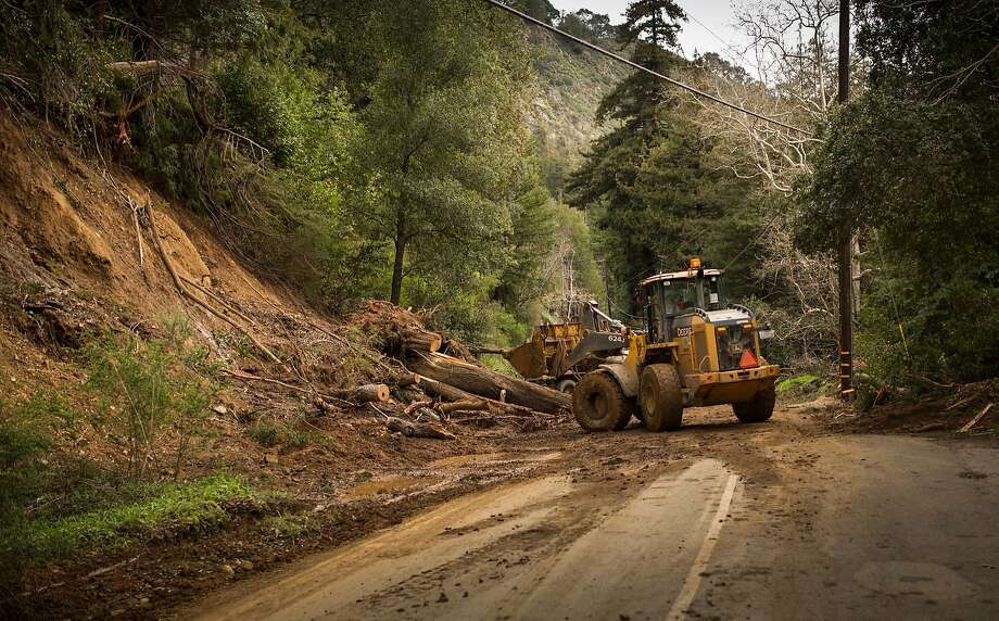 Highway 1, Big Sur, Calif. after a mudslide on Feb 24th 2017. This was taken just North of Fernwood Resort in Big Sur. Photo: Kodiak Greenwood / Special To The Chronicle 2017