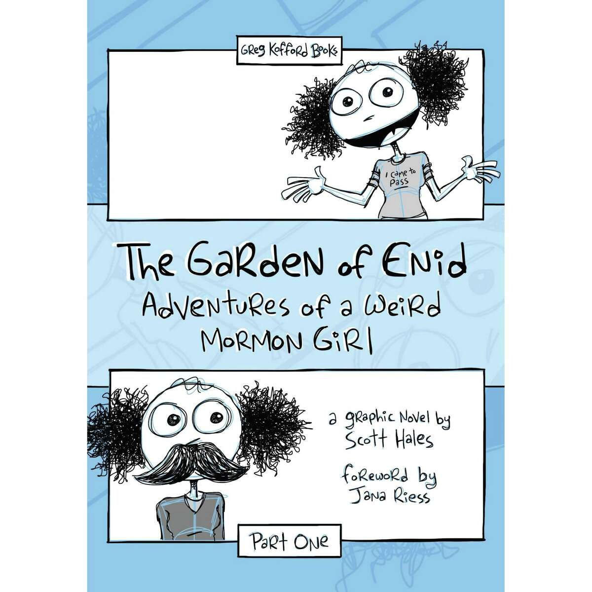 """The cover and a page of the graphic novel """"The Garden of Enid"""" by Scott Hales."""