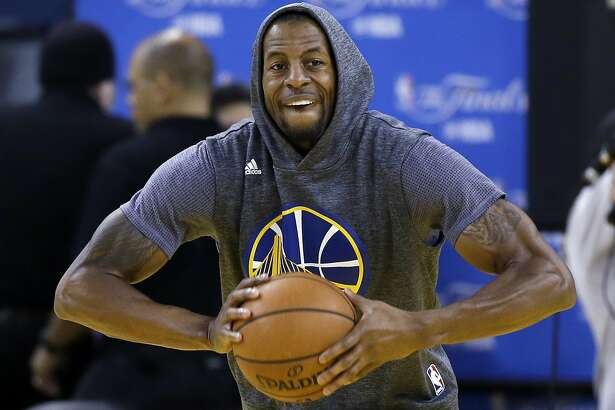 FILE - In this June 1, 2016, file photo, Golden State Warriors' Andre Iguodala goes through drills during NBA basketball practice in Oakland, Calif. He's among quite a few Warriors who build team chemistry on flights between games by playing very competitive games of poker. With all that was made before the season about adding Kevin Durant to an already star-studded roster, Golden State's players have jelled just fine. (AP Photo/Marcio Jose Sanchez, File)