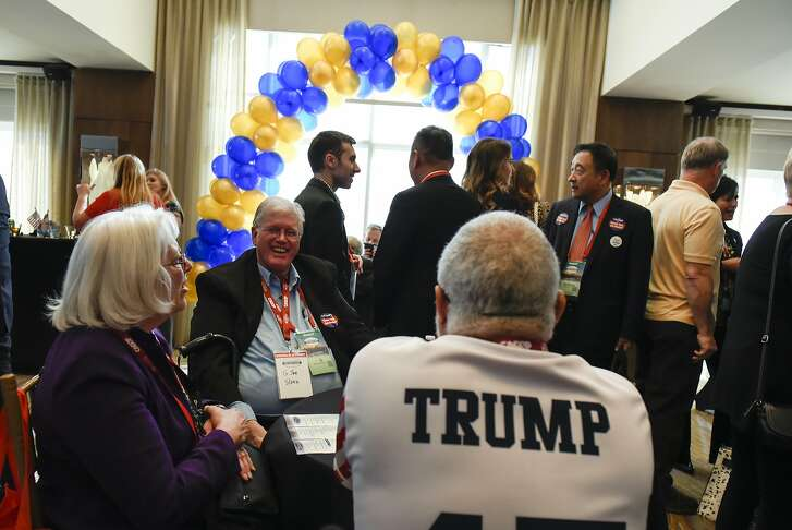 Guests mingle at Trump Delegation Reunion gathering during the California Republican Party's 2017 Organizing Convention in Sacramento, CA, on Saturday February 25, 2017.