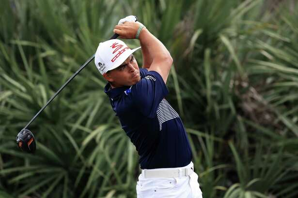 PALM BEACH GARDENS, FL - FEBRUARY 25:  Rickie Fowler of the United States plays his shot from the second tee during the third round of The Honda Classic at PGA National Resort and Spa on February 25, 2017 in Palm Beach Gardens, Florida.  (Photo by Sam Greenwood/Getty Images)