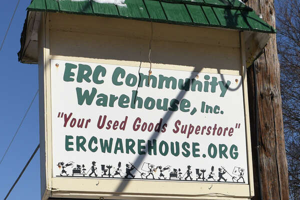 ERC Community Warehouse sign Tuesday Feb. 14, 2017 in Melrose, NY. There are ethical questions surrounding the warehouse's nonprofit board and the money it has received from the Eastern Rensselaer County Solid Waste Management Authority.  (John Carl D'Annibale / Times Union)