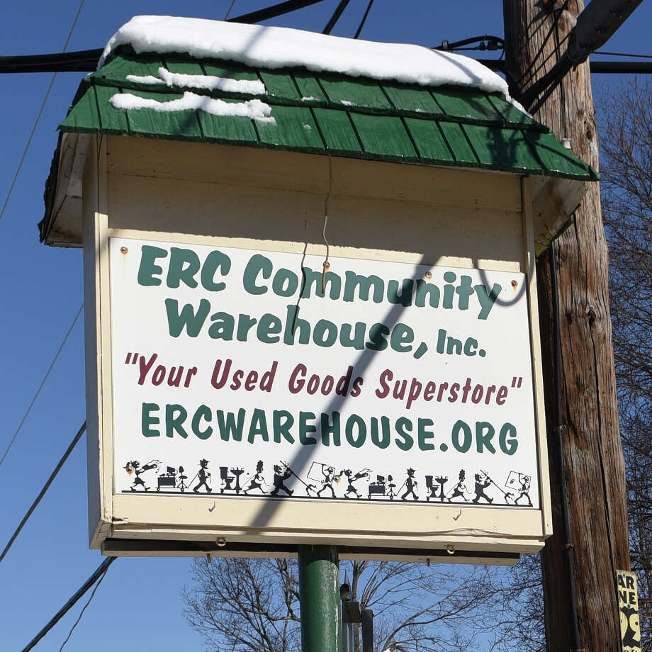 ERC Community Warehouse sign Tuesday Feb. 14, 2017 in Melrose, NY. There are ethical questions surrounding the warehouse's nonprofit board and the money it has received from the Eastern Rensselaer County Solid Waste Management Authority.  (John Carl D'Annibale / Times Union) Photo: John Carl D'Annibale / 20039650A